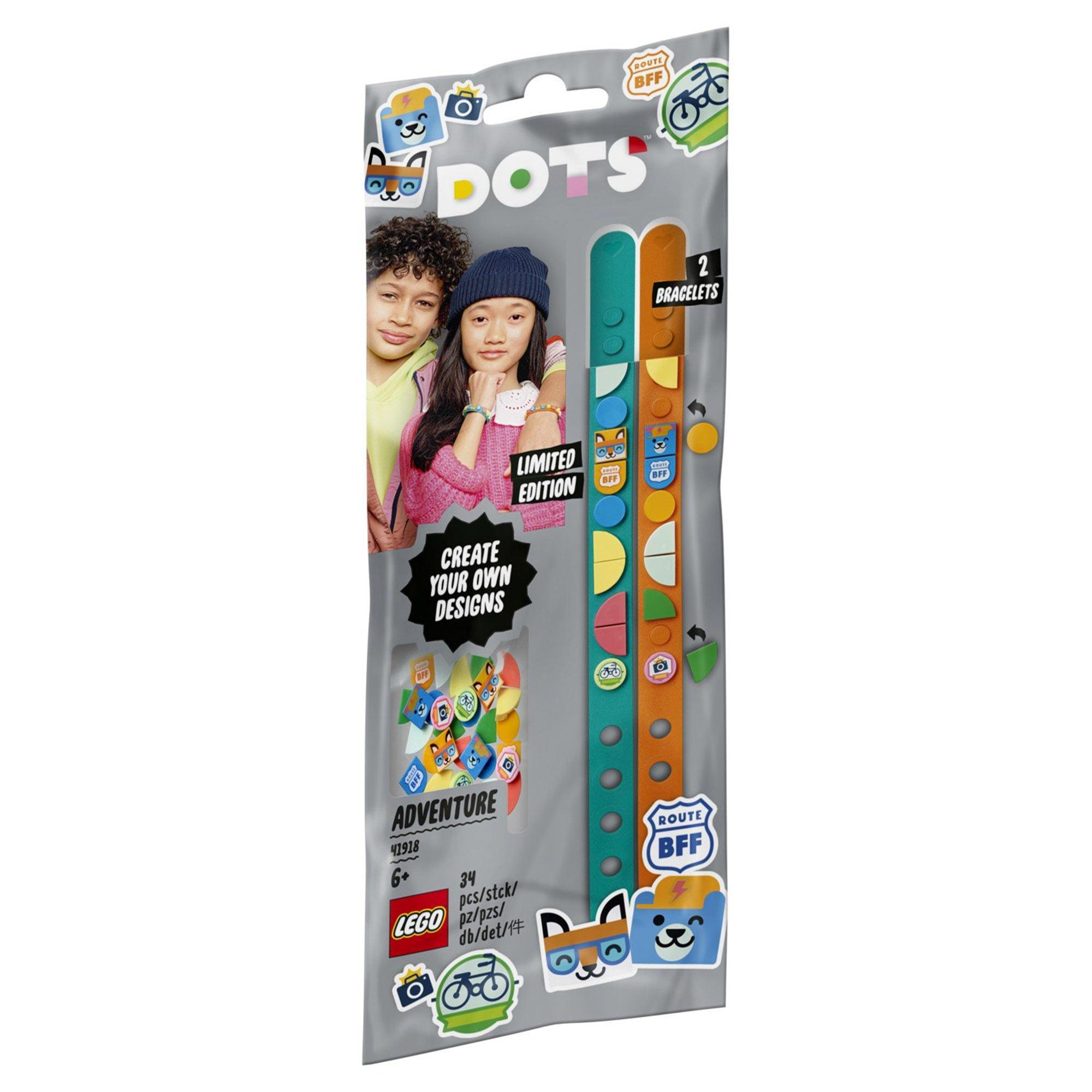 Браслет-конструктор Lego Dots Приключения 41918 конструктор lego dots 41919 браслет молния