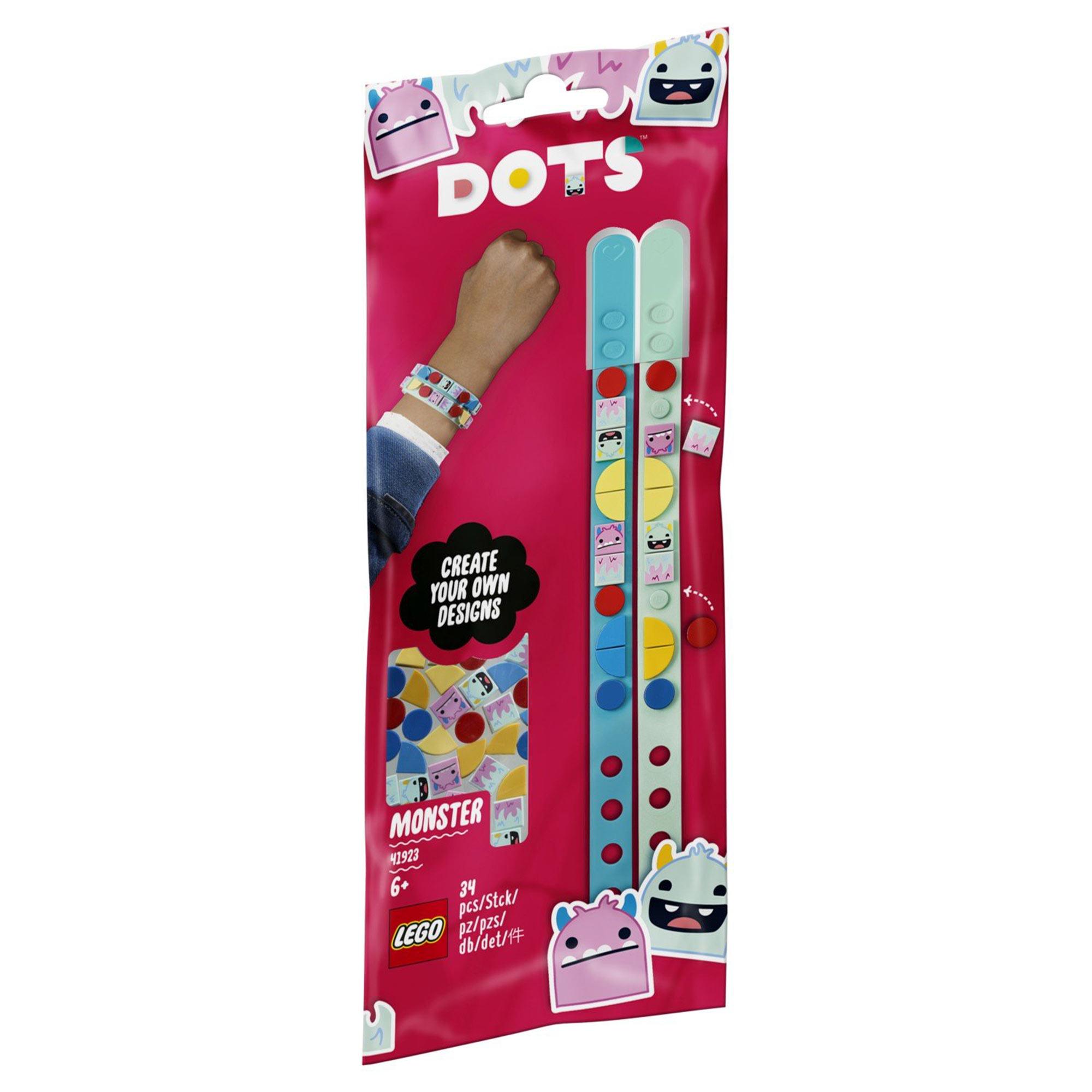 Браслет-конструктор Lego Dots Монстры 41923 конструктор lego dots 41919 браслет молния