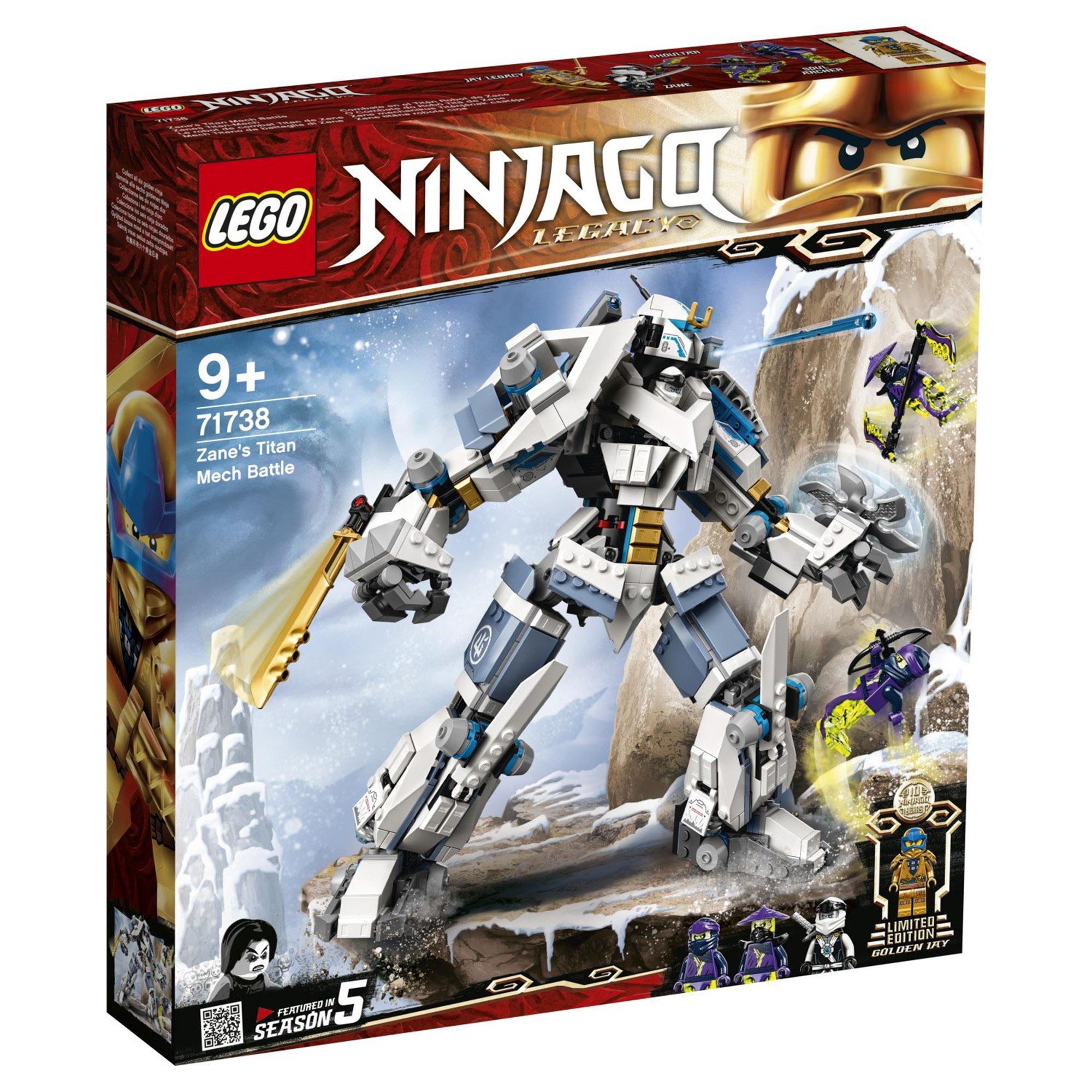 Фото - Конструктор Lego Ninjago Битва с роботом Зейна 71738 конструктор lego ninjago бронированный носорог зейна
