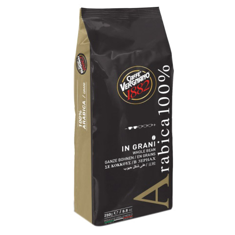 Фото - Кофе в зернах Caffe Vergnano Arabica 100%, 250 г кофе молотый caffe boasi latina moka 100% arabica 250 г