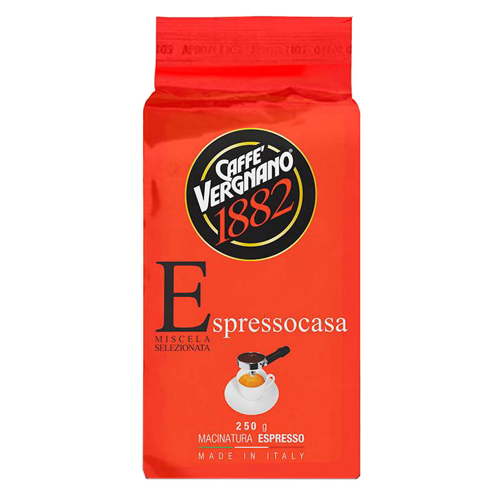 Фото - Кофе молотый Caffe Vergnano Espresso Casa, 250 г кофе молотый caffe vergnano 1882 espresso casa 250 г