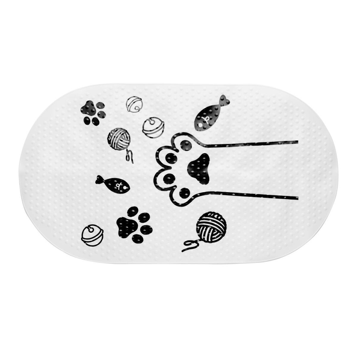 Коврик для ванной Fora Happy Cats Лапка 69х38 см
