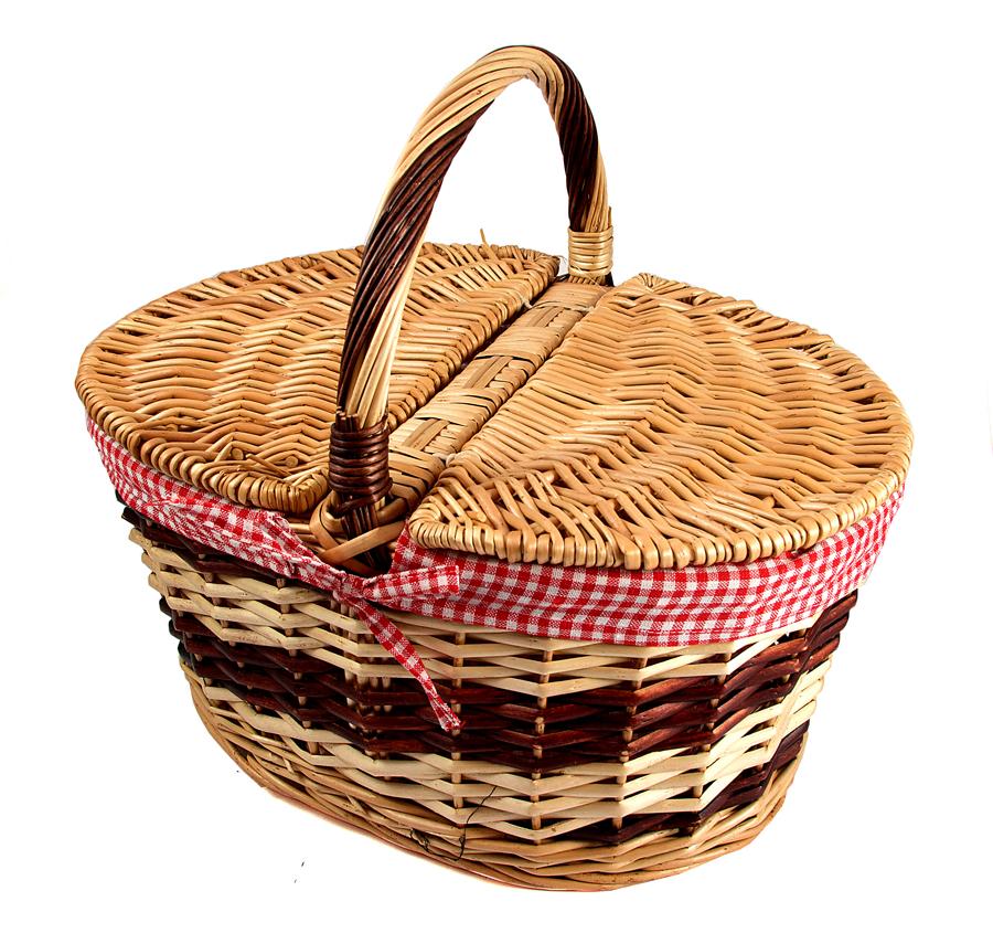 Корзина для пикника Русские подарки 42х32х20/35 см