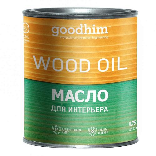 Масло для интерьера goodhim woodoil эбеновое дерево 0,75 л