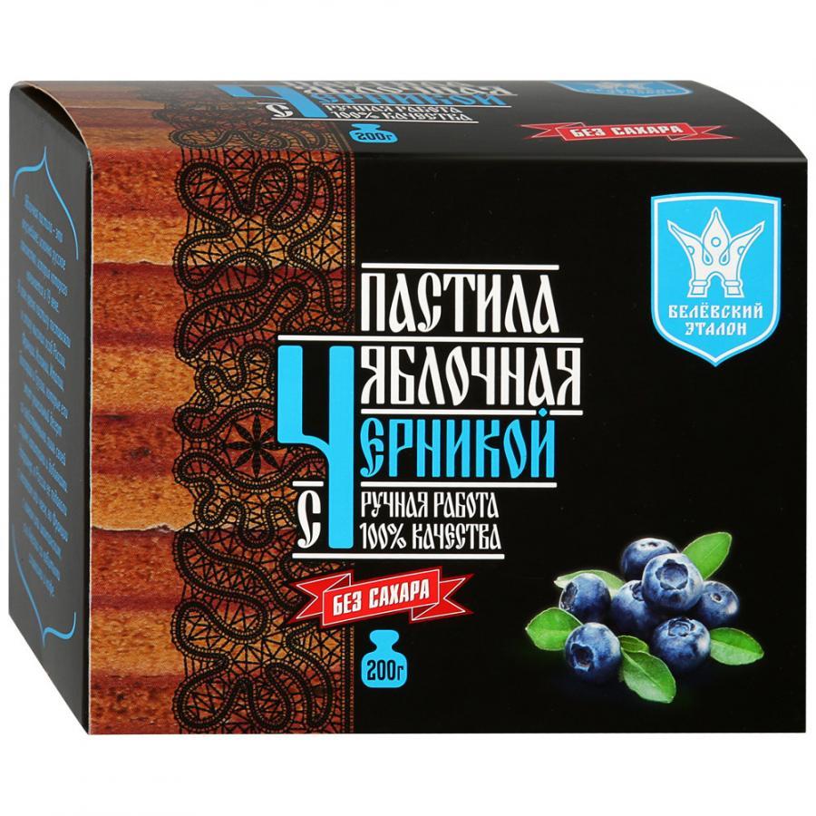 Пастила Белёвский эталон яблочная с черникой (без сахара), 200 г