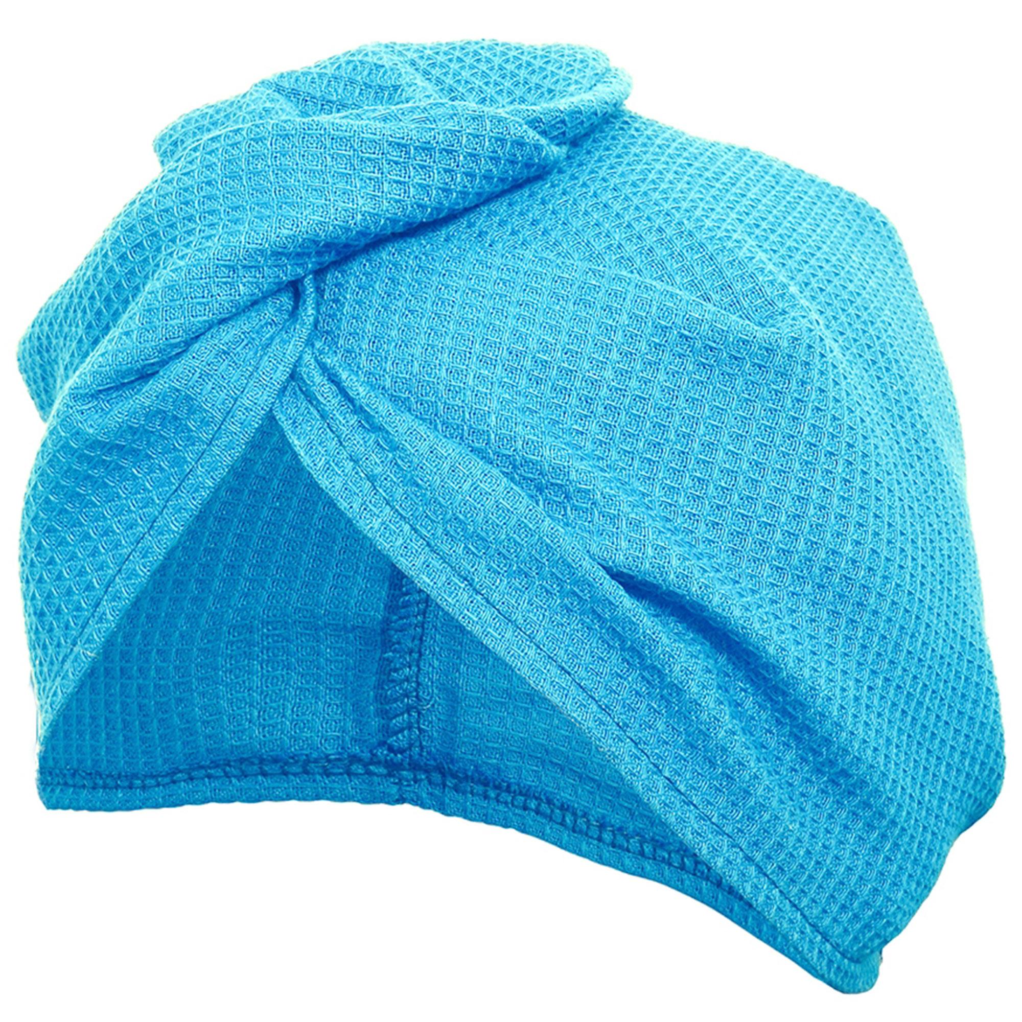 Вафельная чалма Банные штучки голубая