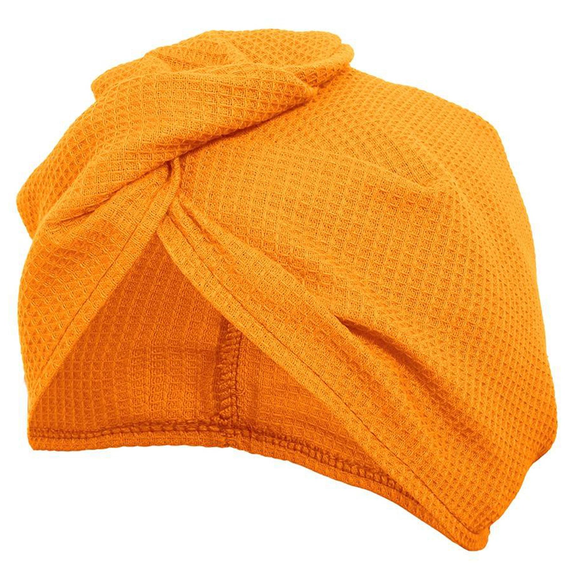 Вафельная чалма Банные штучки оранжевая