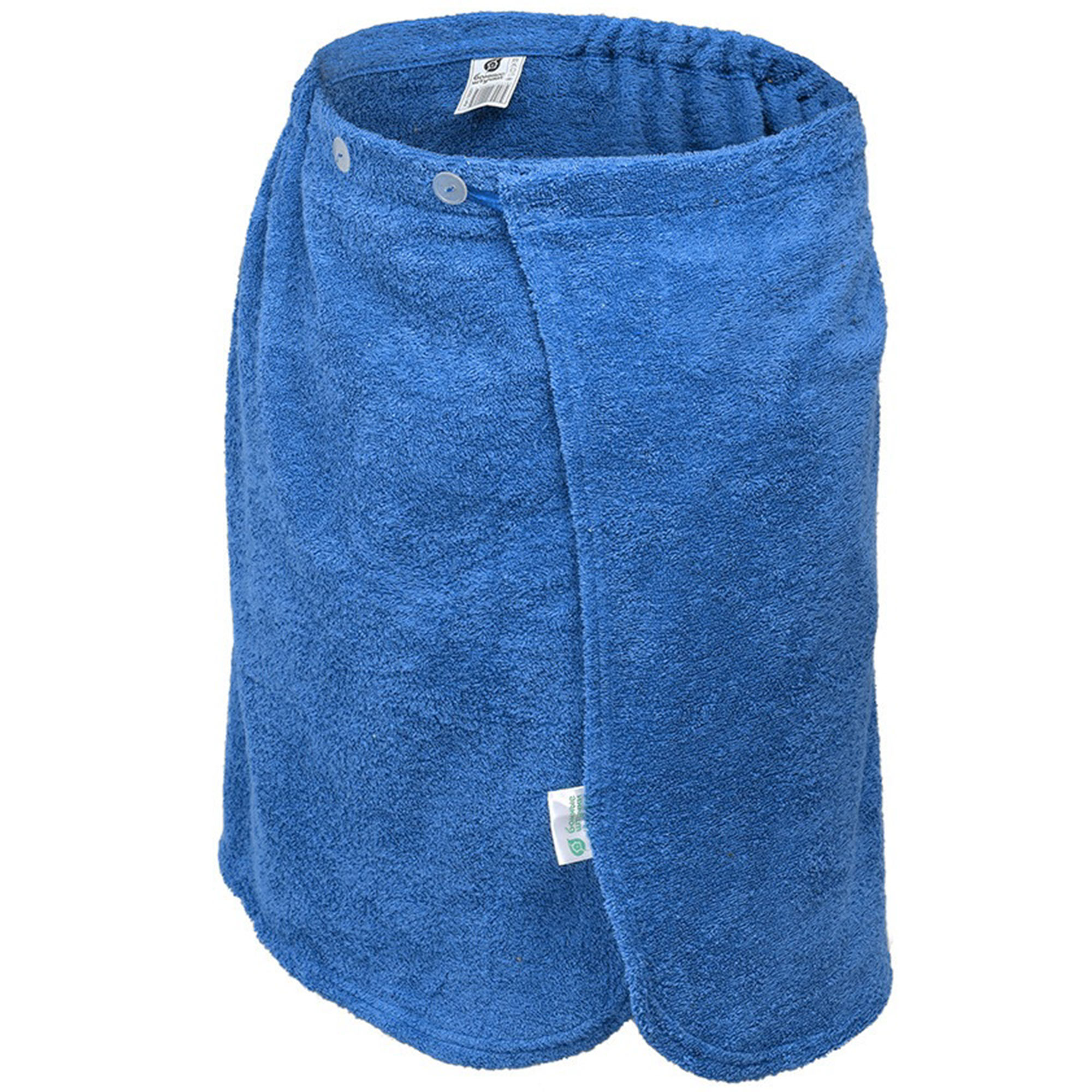 Махровая накидка для мужчин Банные штучки 140х60 см синяя