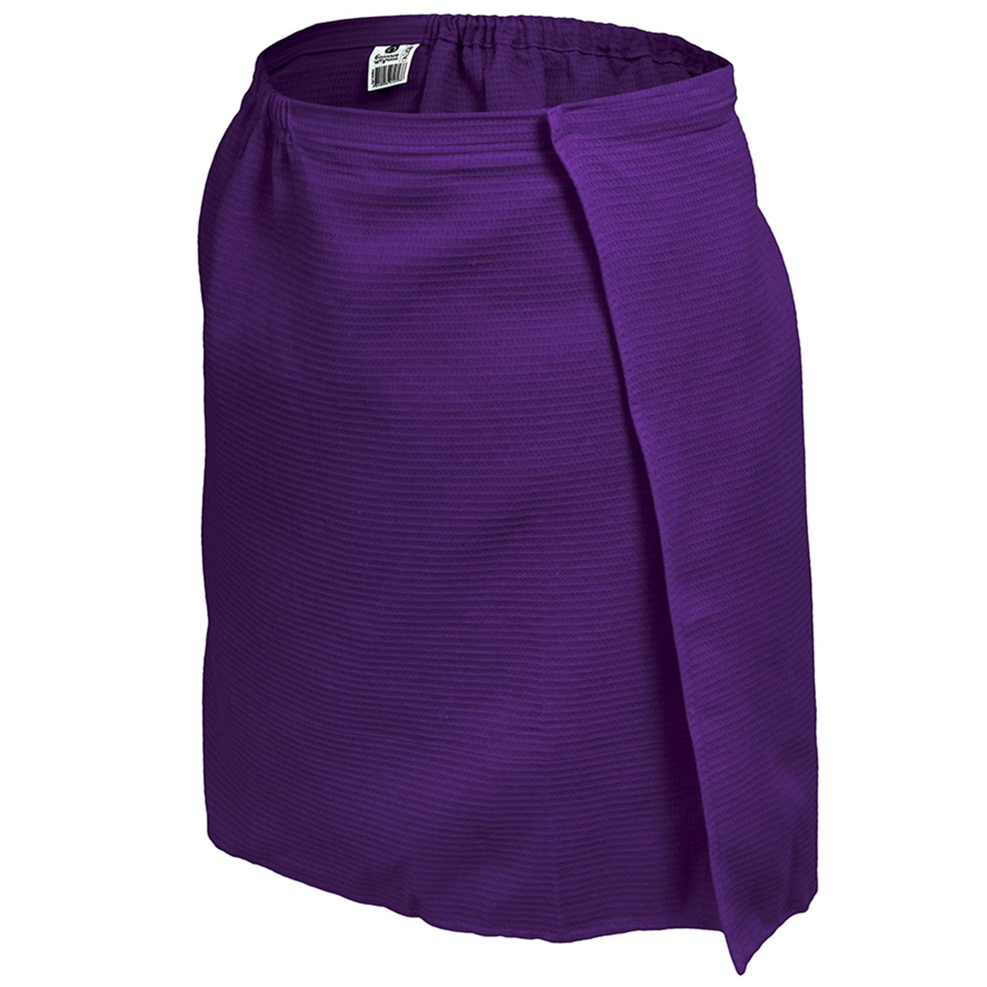 Вафельная накидка для мужчин Банные штучки 145х60 см фиолетовая
