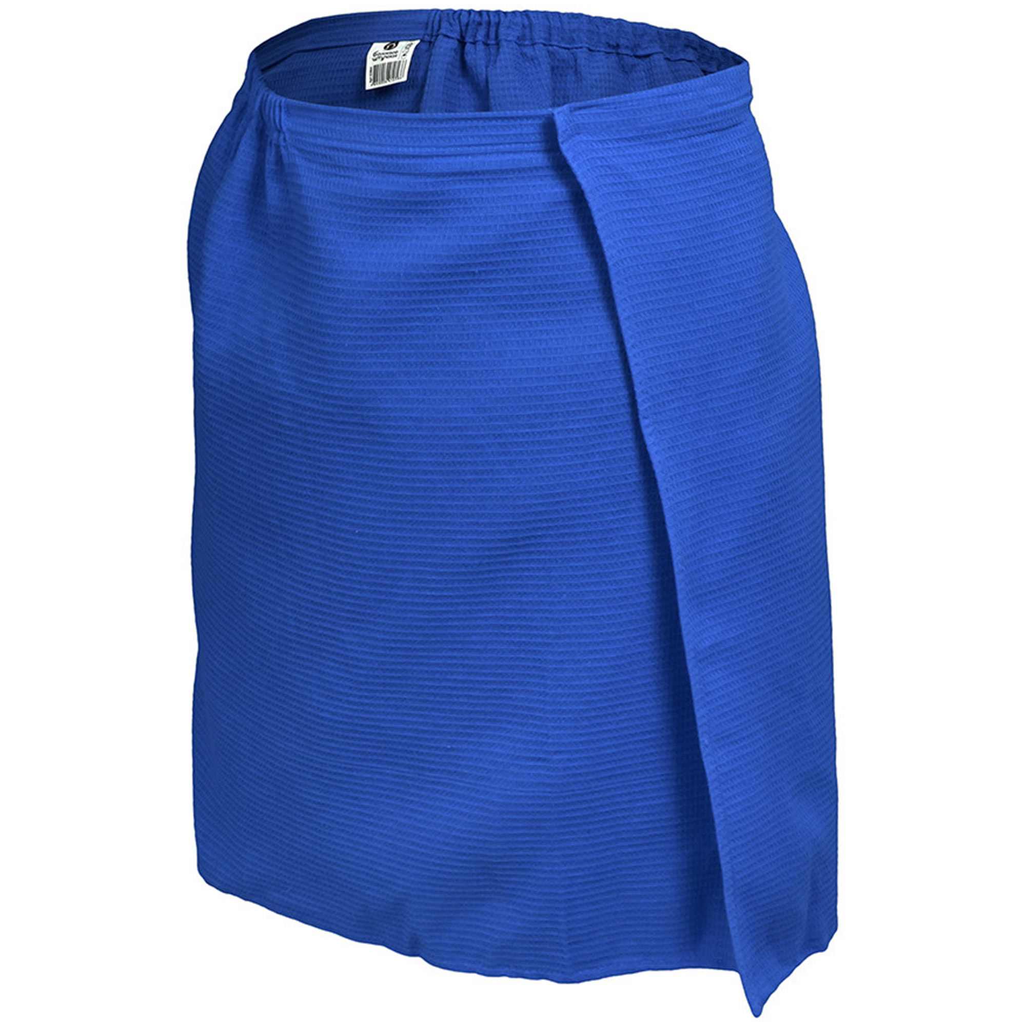Вафельная накидка для мужчин Банные штучки 145х60 см синяя