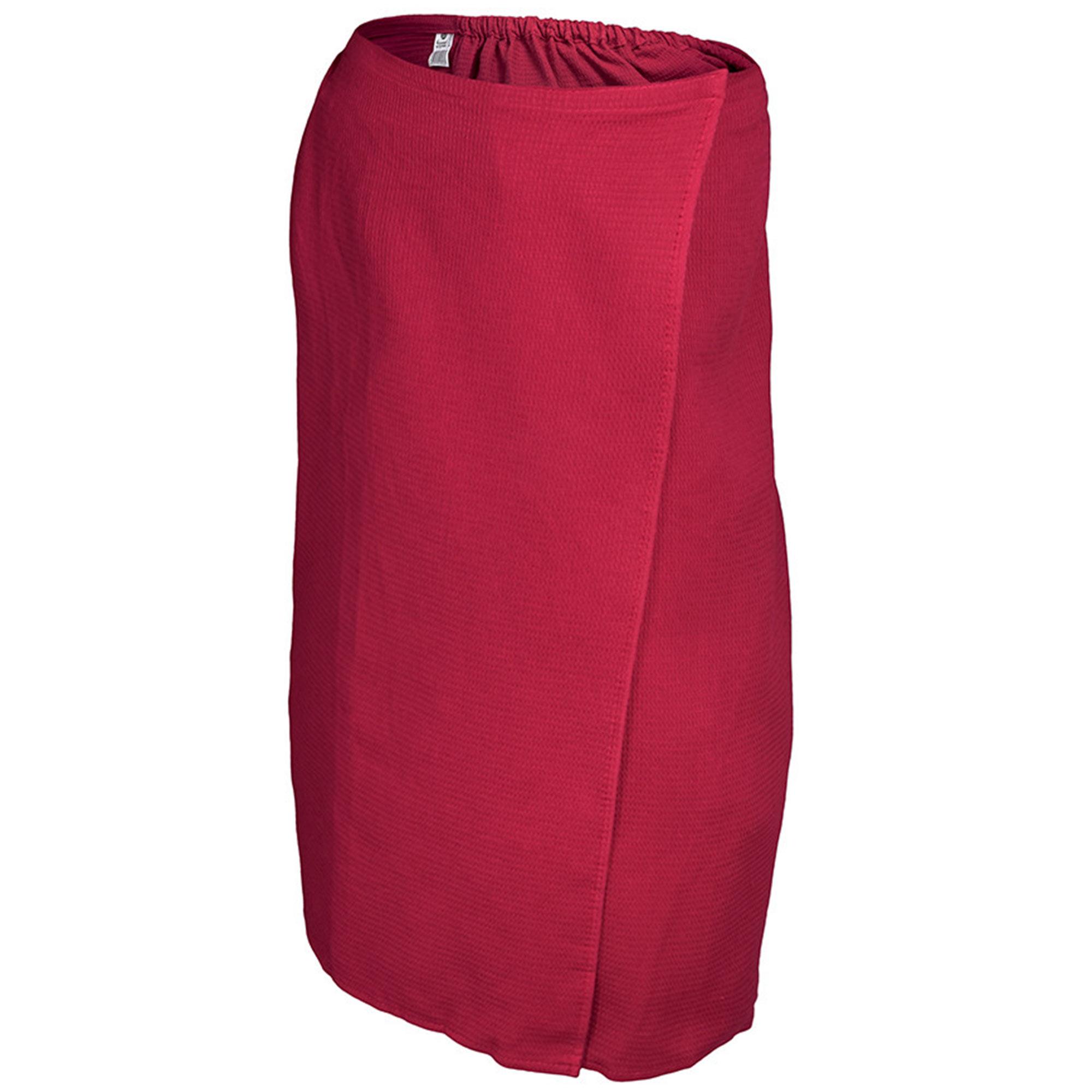 Вафельная накидка для женщин Банные штучки 145x78 см красная
