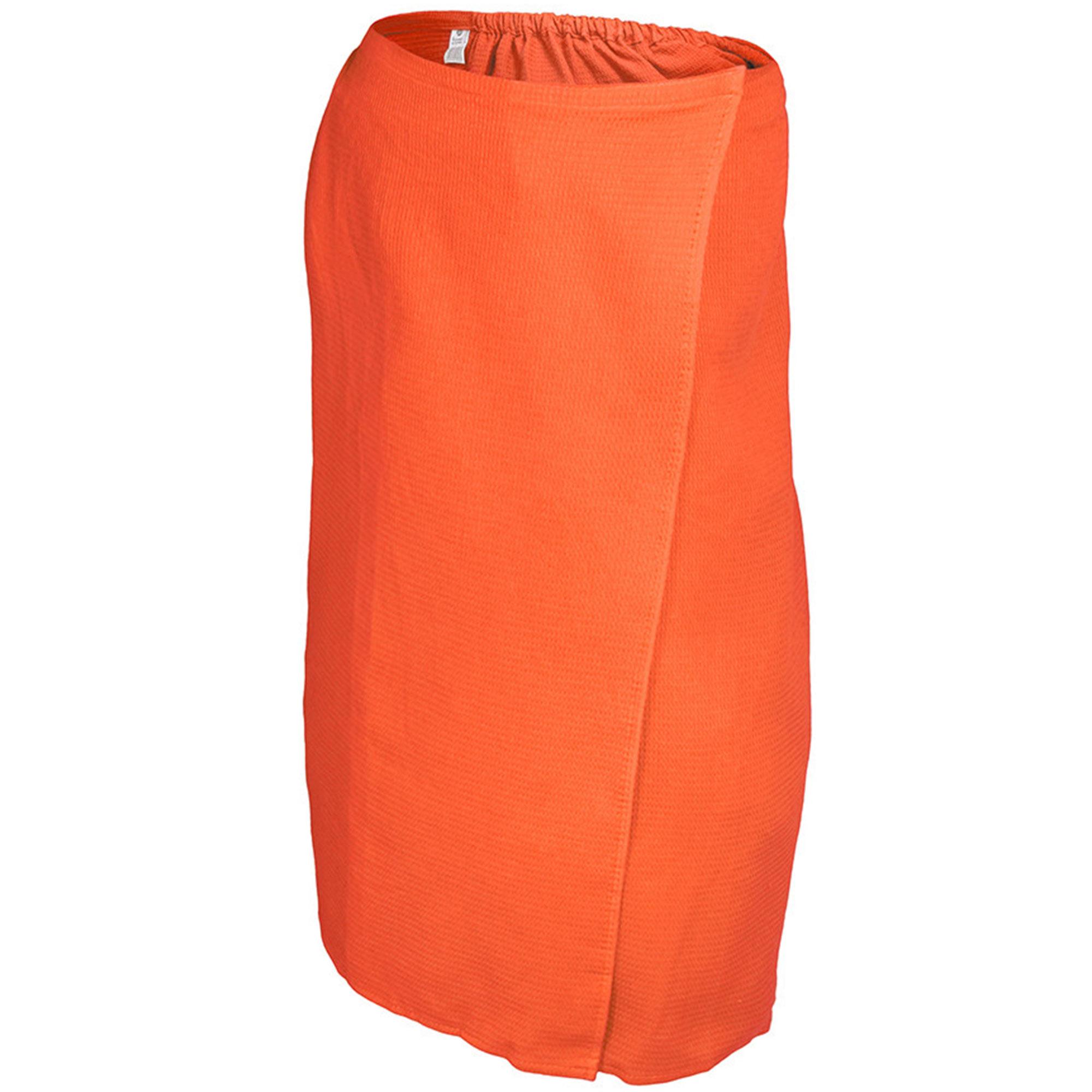 Вафельная накидка для женщин Банные штучки 145x78 см оранжевая