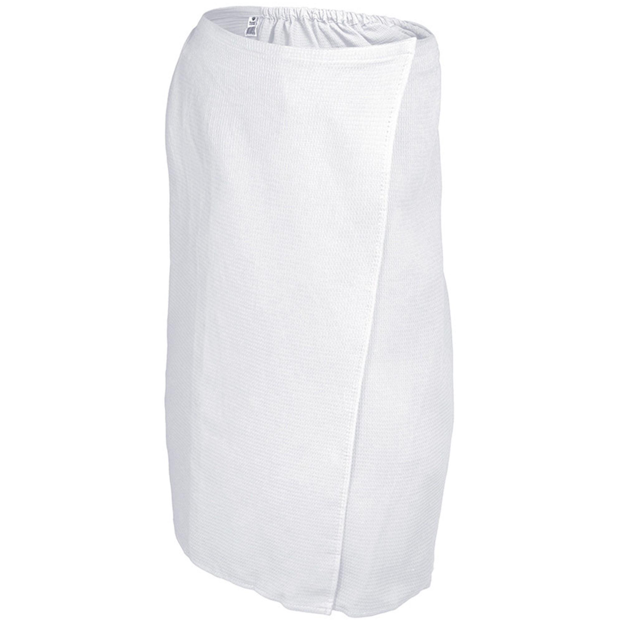Вафельная накидка для женщин Банные штучки 145x78 см белая