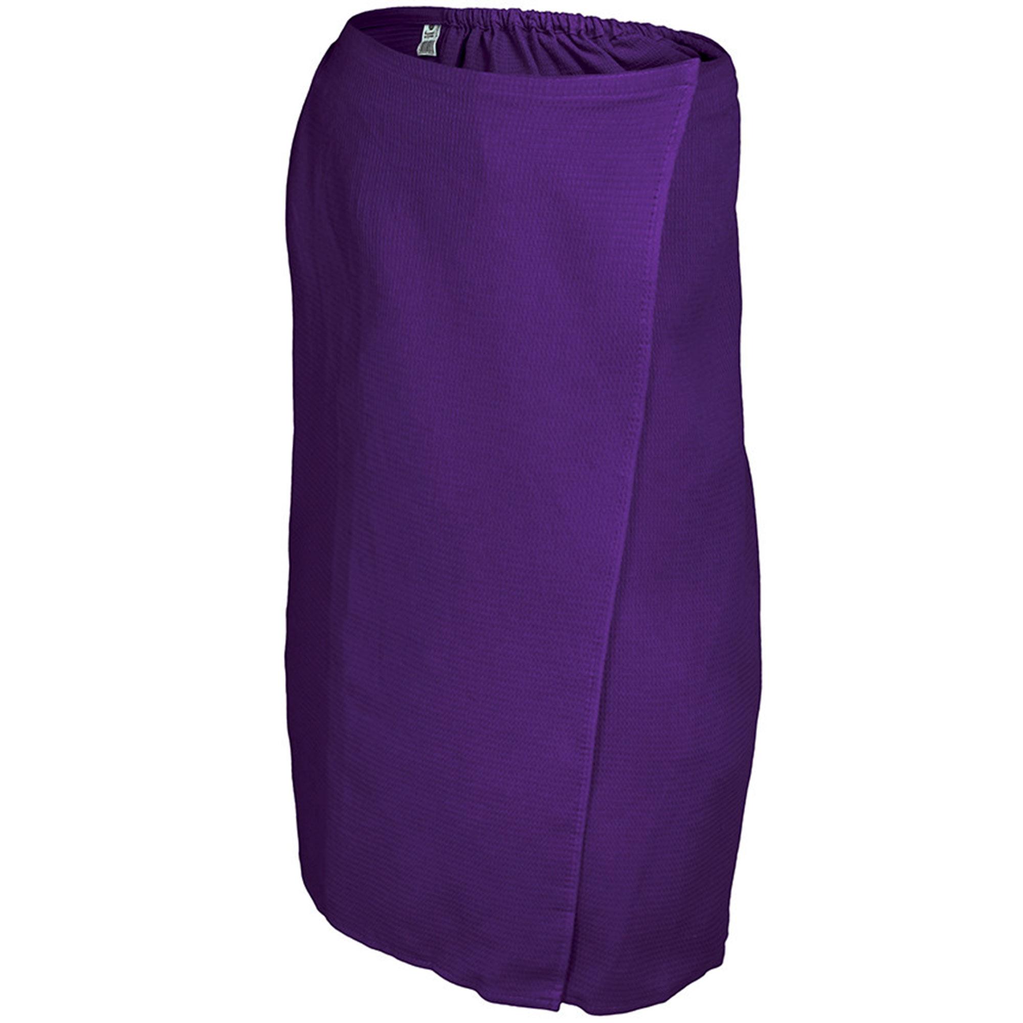 Вафельная накидка для женщин Банные штучки 145x78 см фиолетовая