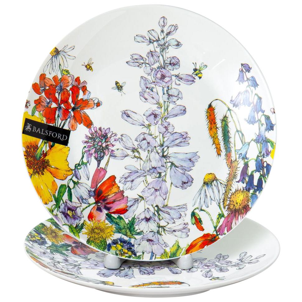 Набор тарелок Balsford Полевые цветы 20,5 см 2 шт набор тарелок balsford полевые цветы 550 мл 2 предмета арт 169 40004