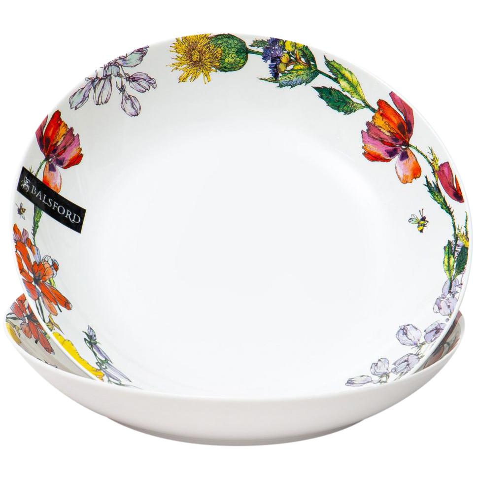Набор глубоких тарелок Balsford Полевые цветы 20,5 см 2 шт набор тарелок balsford полевые цветы 550 мл 2 предмета арт 169 40004