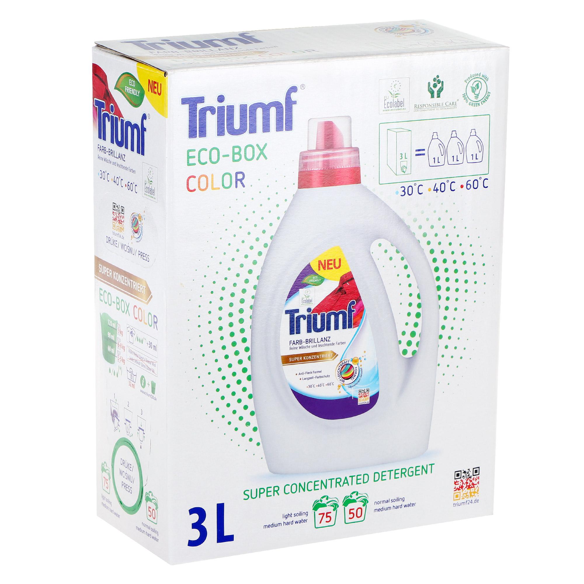 детские моющие средства Гель для стирки белья Triumf color 3 л
