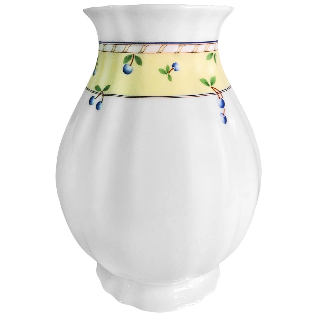 ваза thun ваза Ваза Thun Мелкие ягоды на бледно-желтом фоне 18,5 см