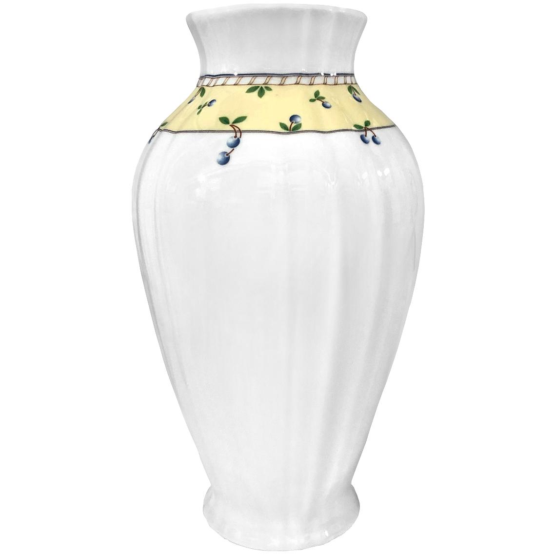 ваза thun ваза Ваза Thun Мелкие ягоды на бледно-желтом фоне 29,5 см
