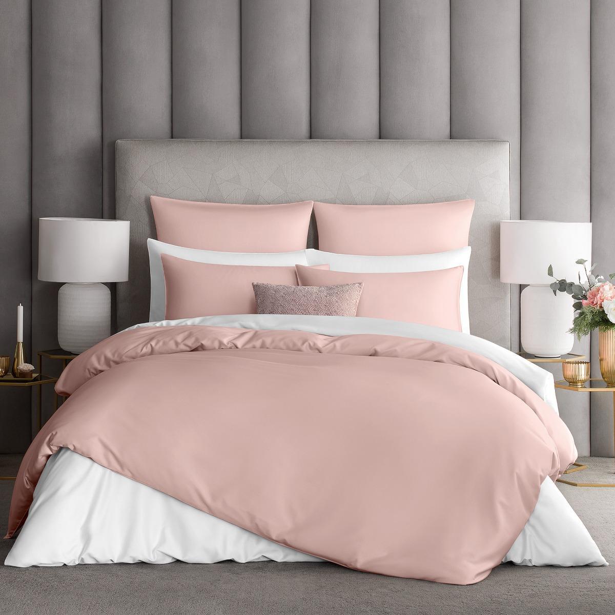 Комплект постельного белья Togas Авари розовый Евро