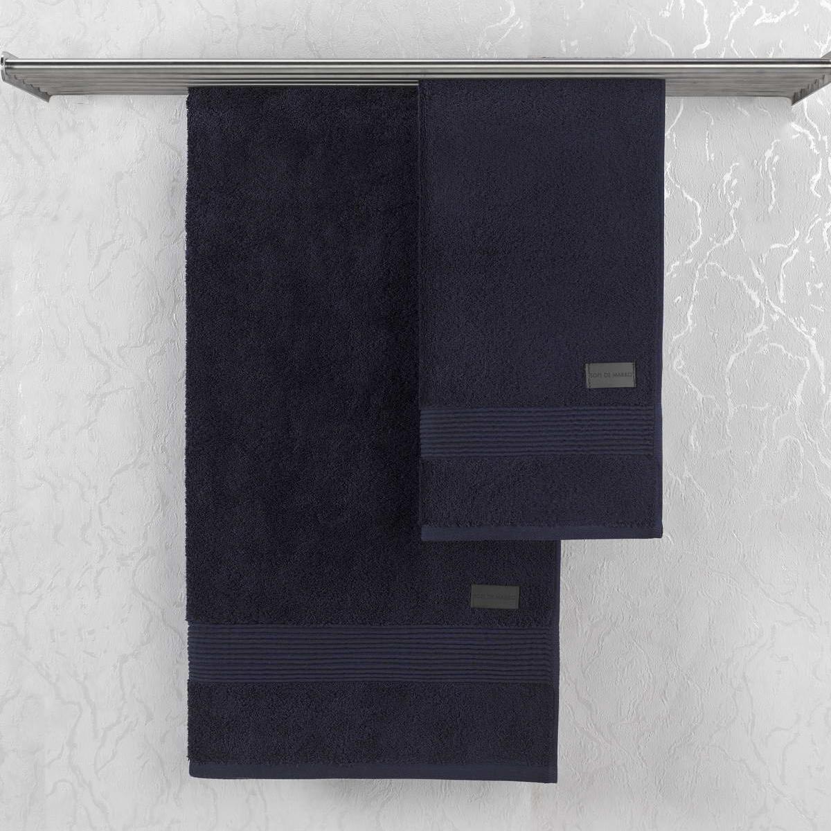 Полотенце Sofi De Marko Carlos тёмно-синие 50х90 см carlos araya historial de navegación
