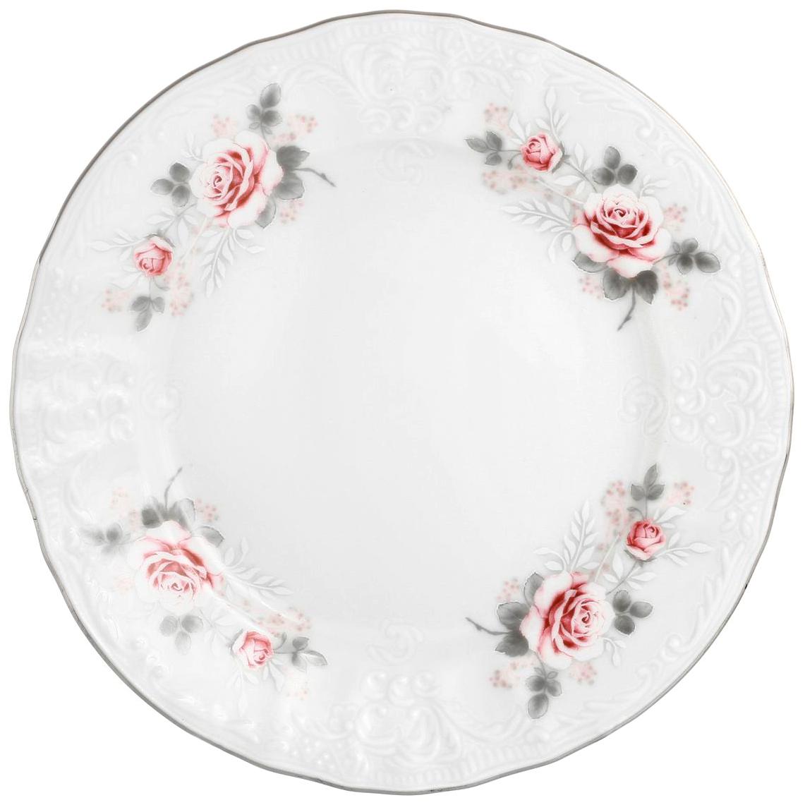 Набор десертных тарелок Bernadotte Бледные розы 17 см 6 шт недорого