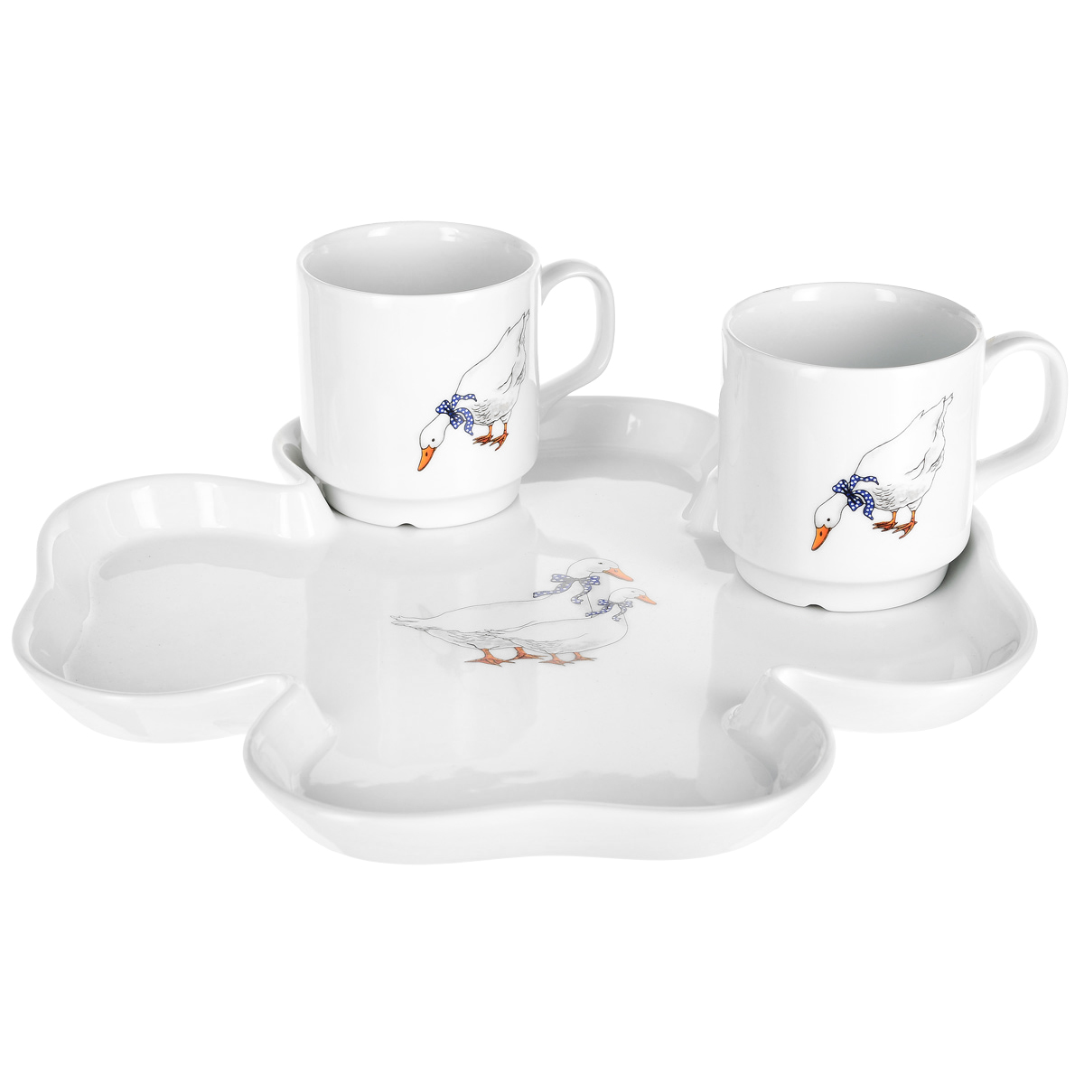 Фото - Набор чайный Thun Гуси 3 предмета набор чайный гималайские цветы 3 предмета churchill himf00081