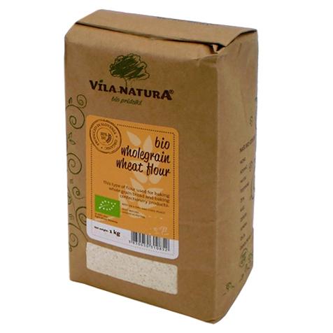 Мука пшеничная VILA NATURA Organic цельнозерновая 1 кг крупа гречневая vila natura 1 кг
