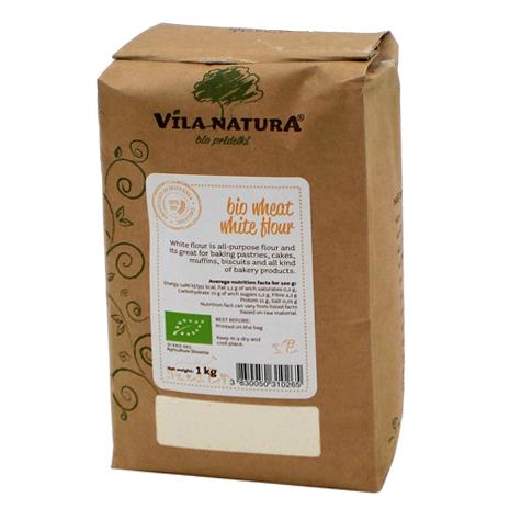 Мука пшеничная VILA NATURA Organic жерновая белая экстра 1 кг крупа гречневая vila natura 1 кг