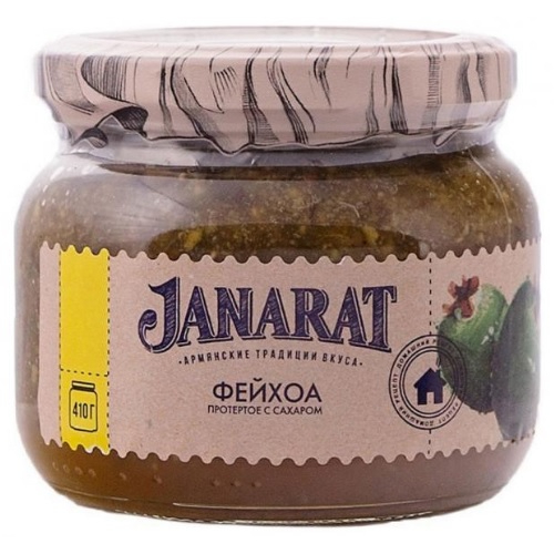 Фейхоа Janarat протертое с сахаром, 410 г