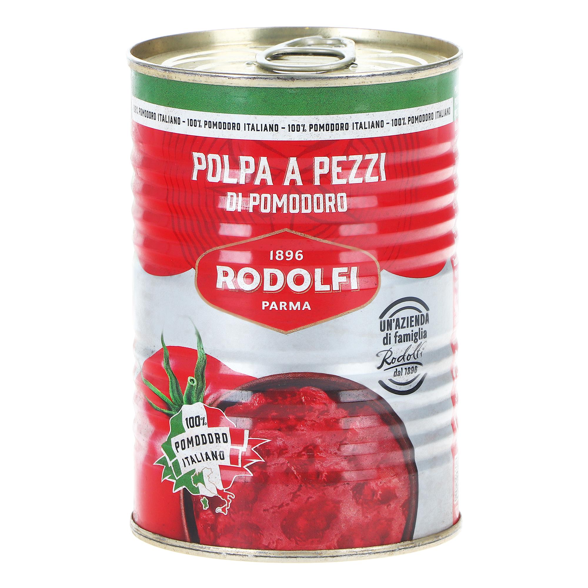 Томаты Rodolfi резаные очищенные, 400 г