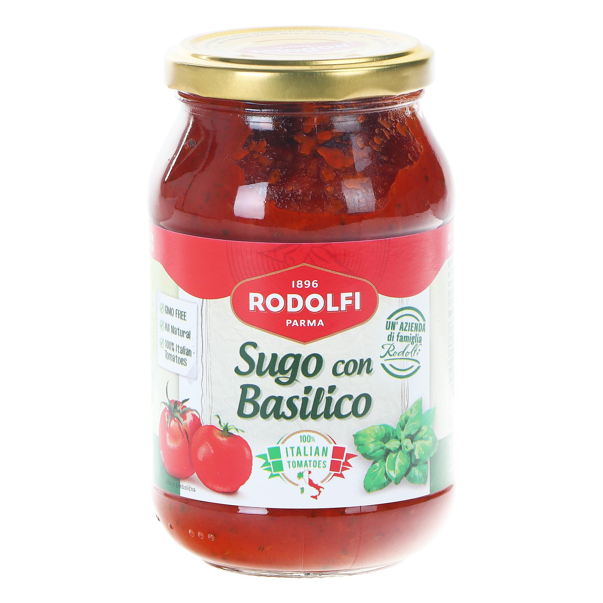 Соус томатный Rodolfi с базиликом, 400 г