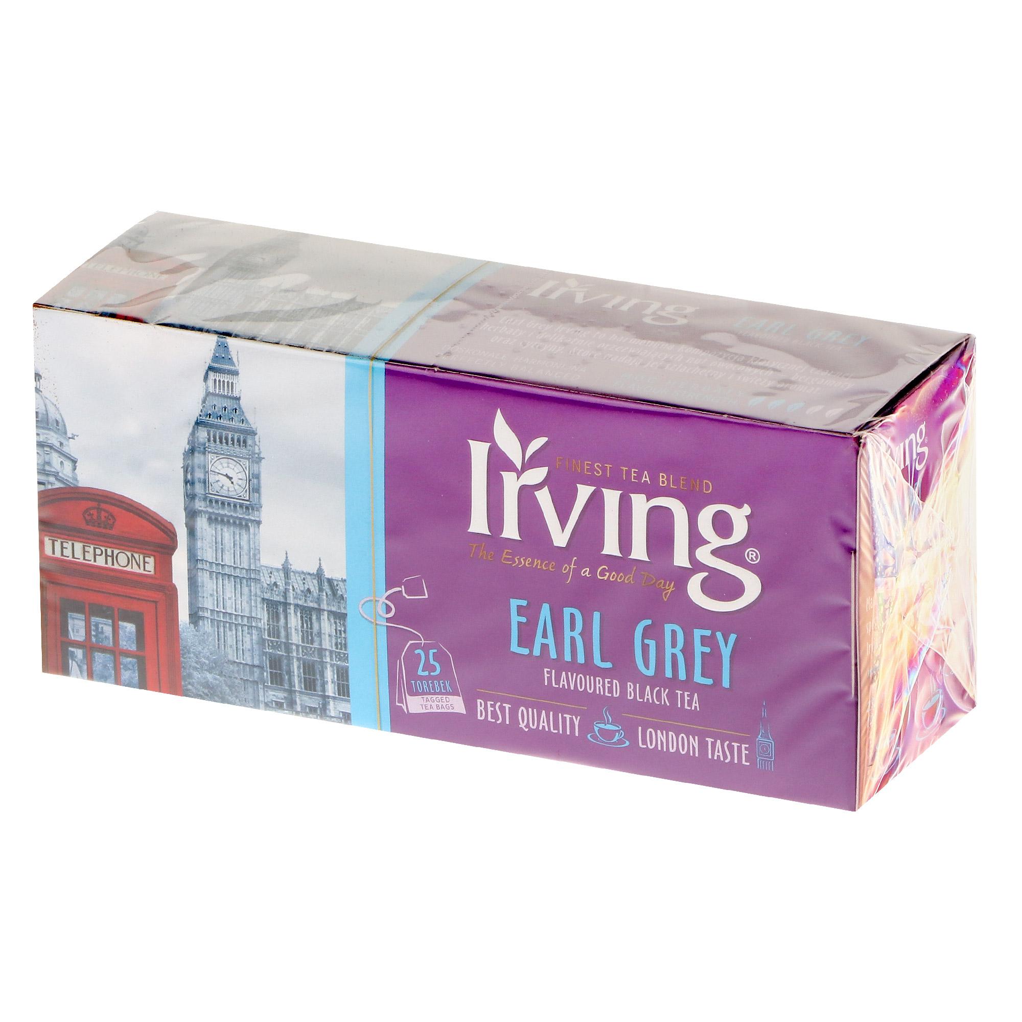 Чай черный Irving Earl Grey, 25 пакетиков чай черный lipton earl grey с бергамотом 25 пакетиков