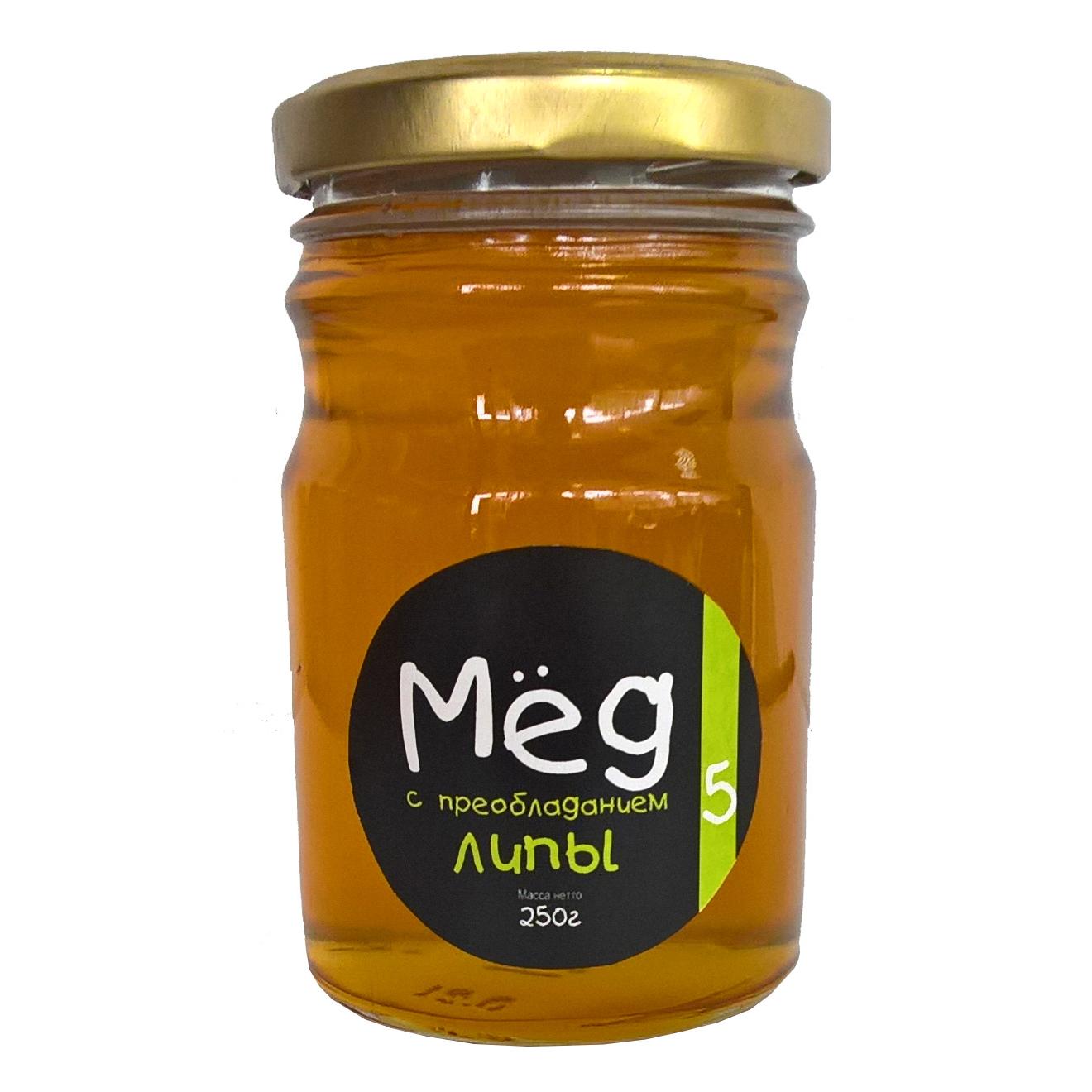 Фото - Мёд Пасека №5 натуральный с преобладанием липы, 250 г мёд медовый дом частная пасека фитнес 460 г