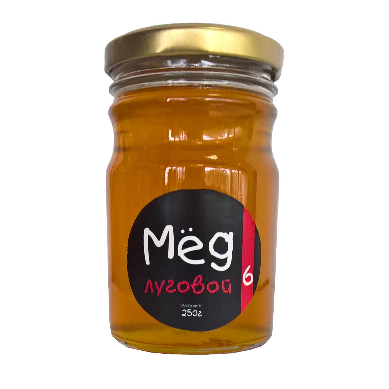 Фото - Мёд Пасека №6 натуральный луговой, 250 г мёд медовый дом частная пасека фитнес 460 г