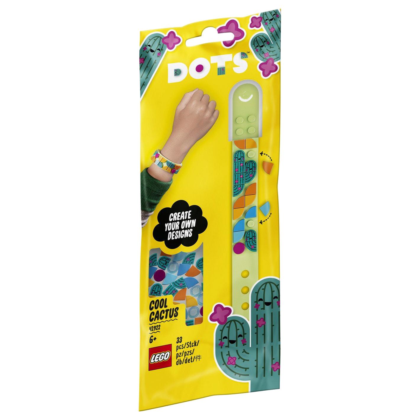 Браслет-конструктор Lego Dots Стильный кактус 41922 конструктор lego dots 41919 браслет молния