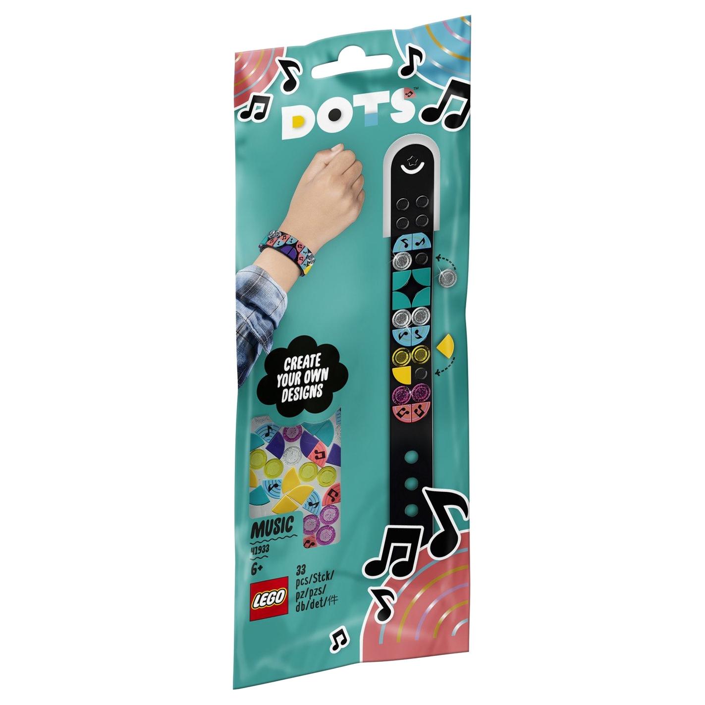 Браслет-конструктор Lego Dots Музыка  41933 lego dots 41900 лего дотс браслет радуга