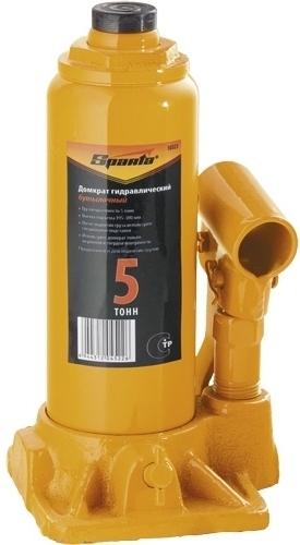 Домкрат гидравлический бутылочный Sparta 5 т, h подъема 195-380 мм