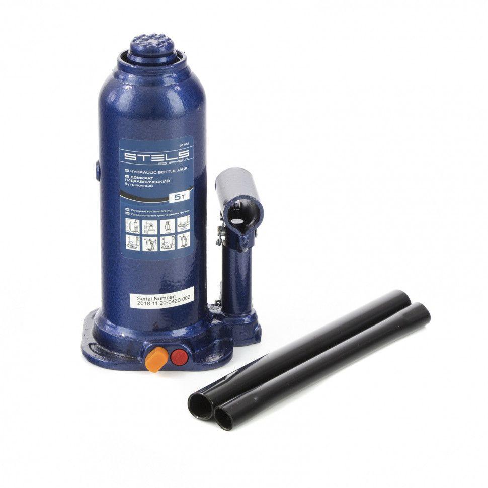 Домкрат гидравлический бутылочный Stels 5 т, h подъема 207-404 мм