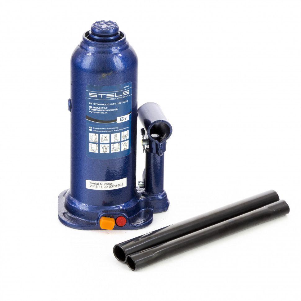 Домкрат гидравлический бутылочный Stels 6 т, h подъема 207-404 мм