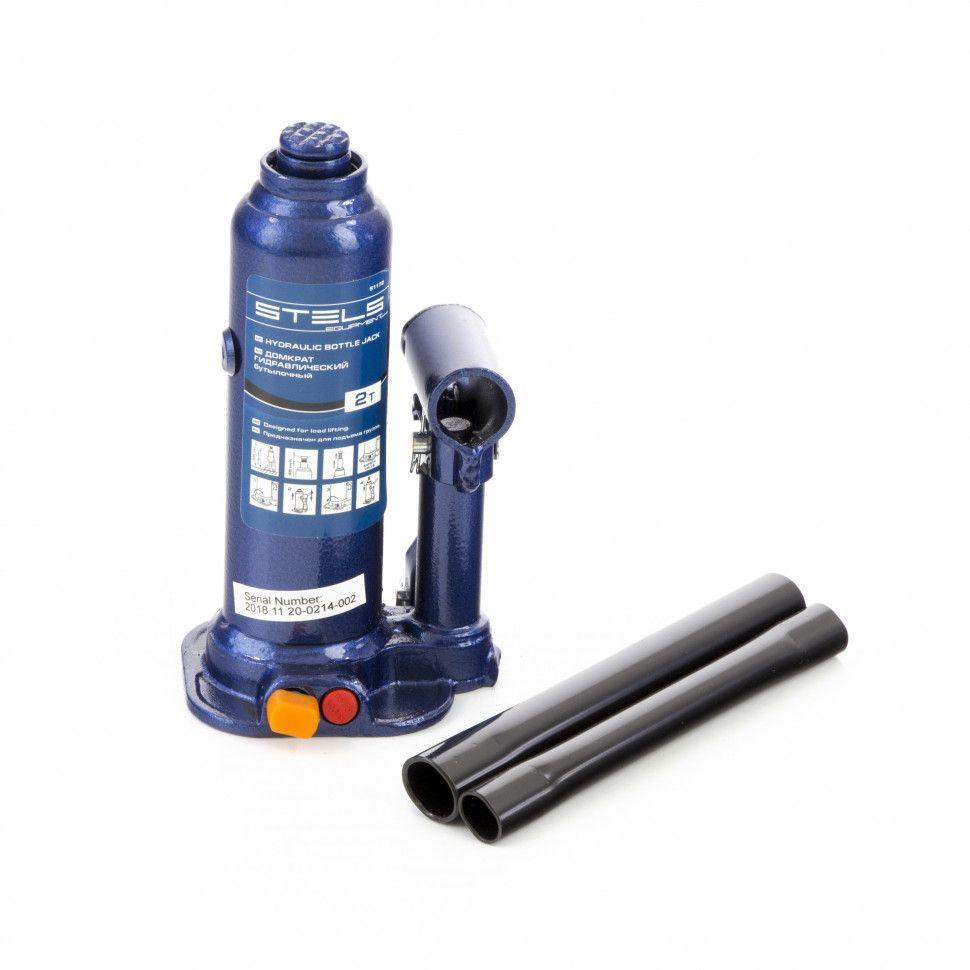 Домкрат гидравлический бутылочный Stels 2 т, h подъема 178-338 мм, в пластиковом кейсе