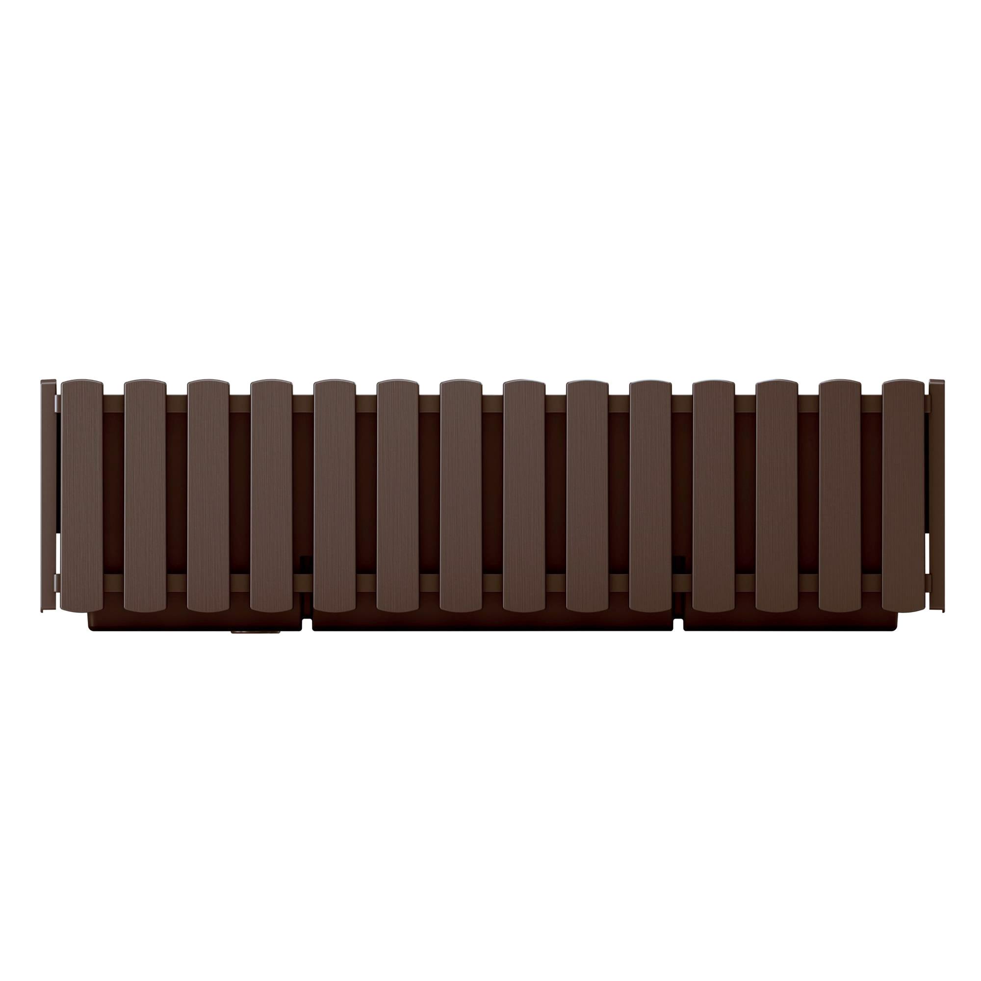 Ящик балконный Prosperplast Boardee fence коричневый 40см