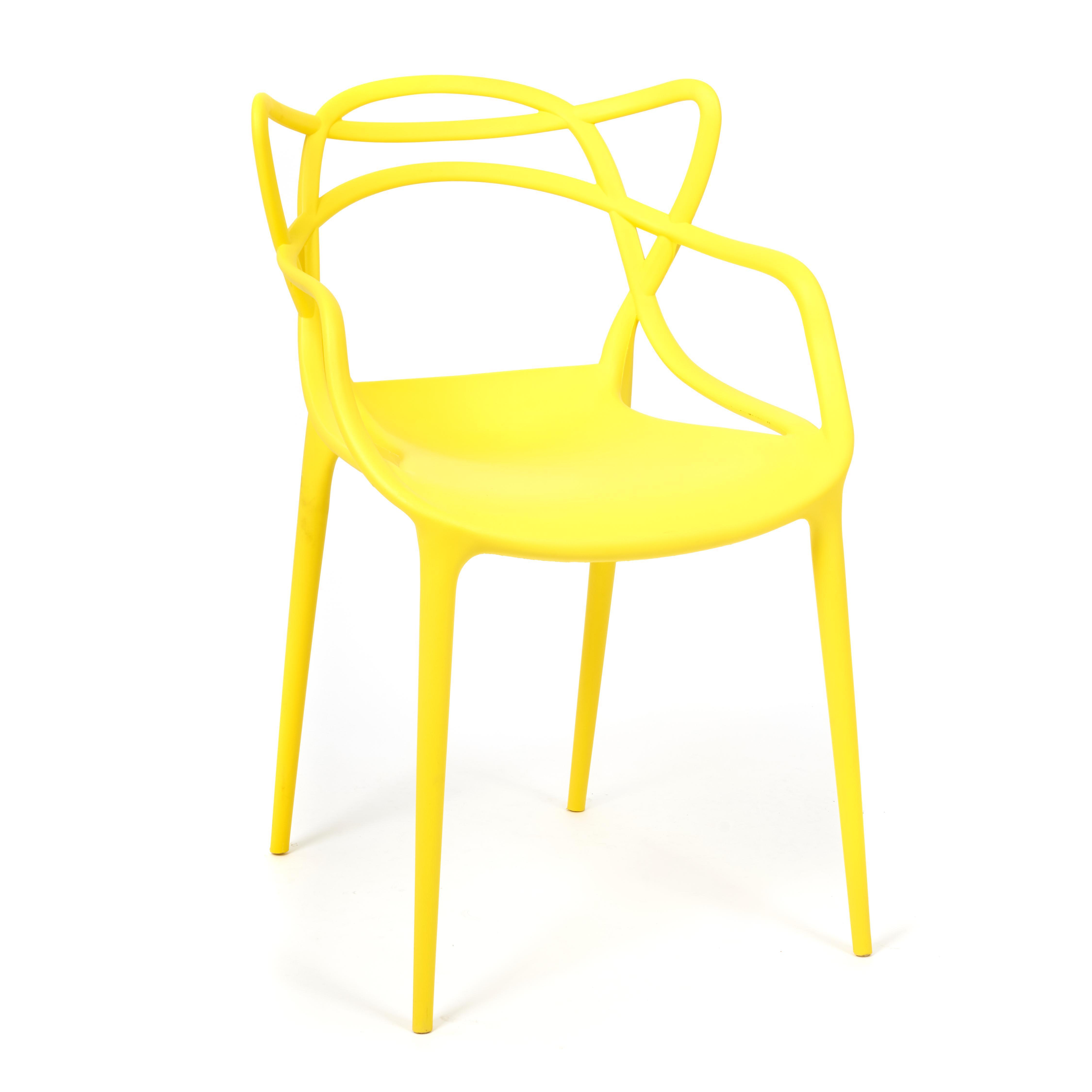 Стул SDM 54.5х56х84 см пластик жёлтый