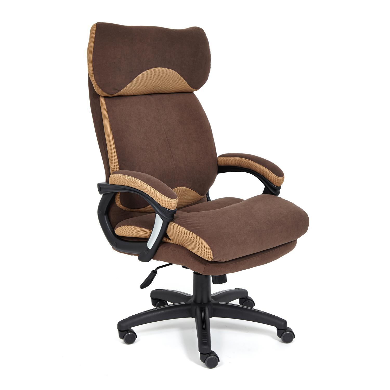 Кресло ТС 70х48х129 см флок/ткань коричневый/бронза