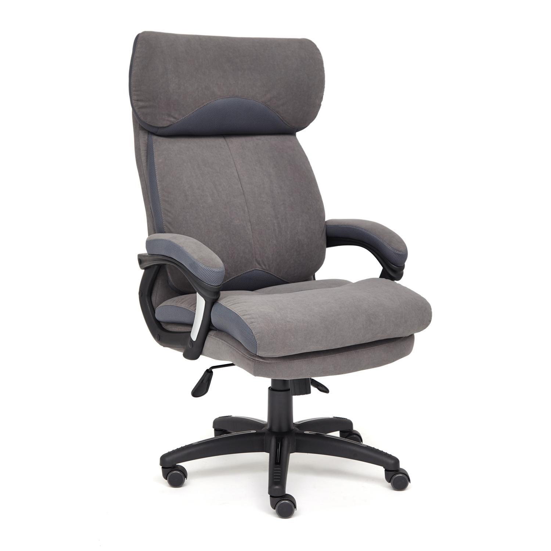 Кресло ТС 70х48х129 см флок/ткань серый/серый