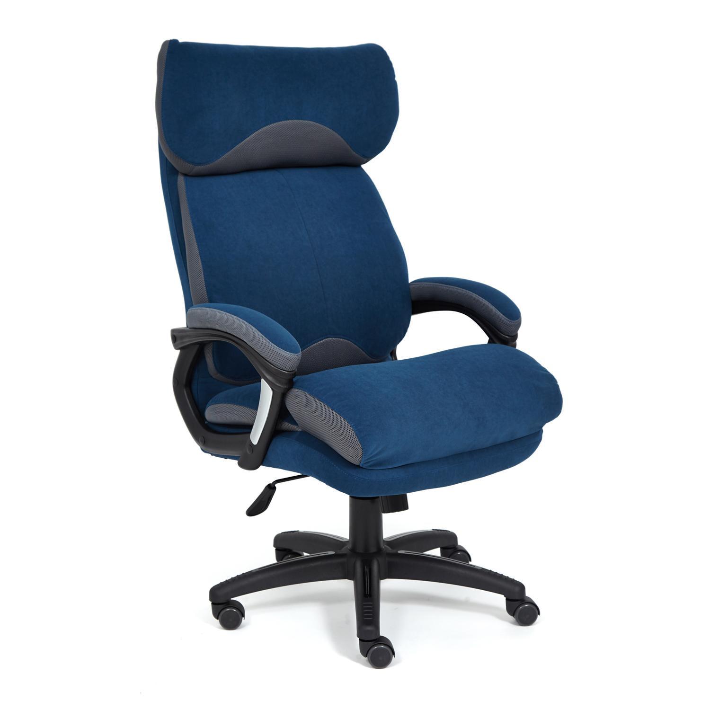 Кресло ТС 70х48х129 см флок/ткань синий/серый