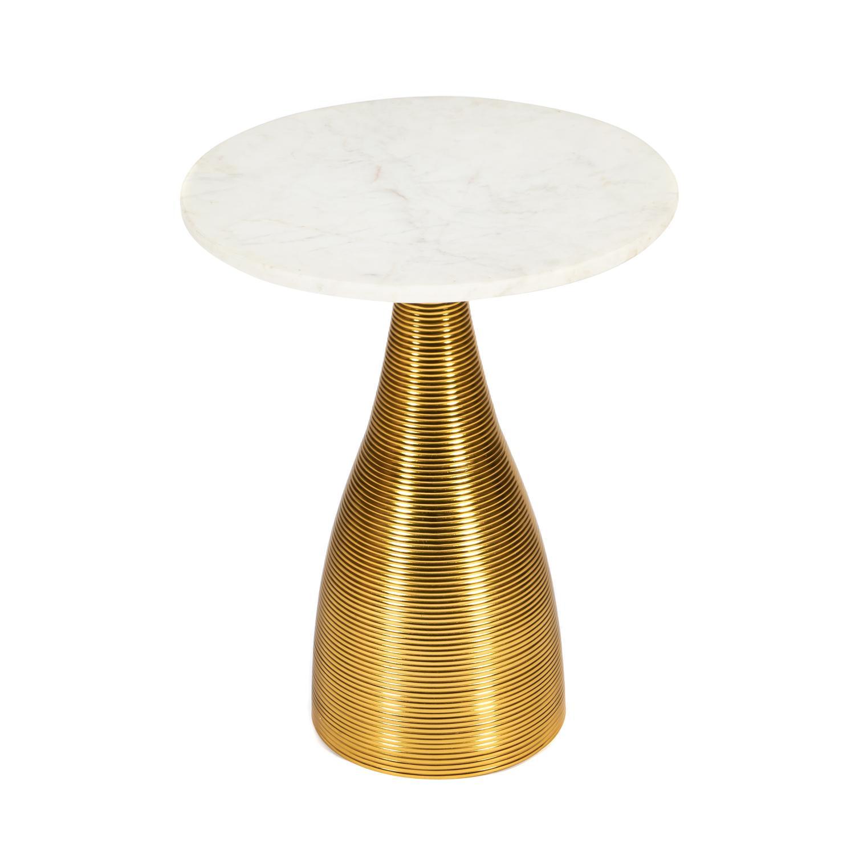 Столик кофейный SDM 40.7x40.7x52.7 алюминиевый сплав/мрамор золотой сковорода d 24 см kukmara кофейный мрамор смки240а