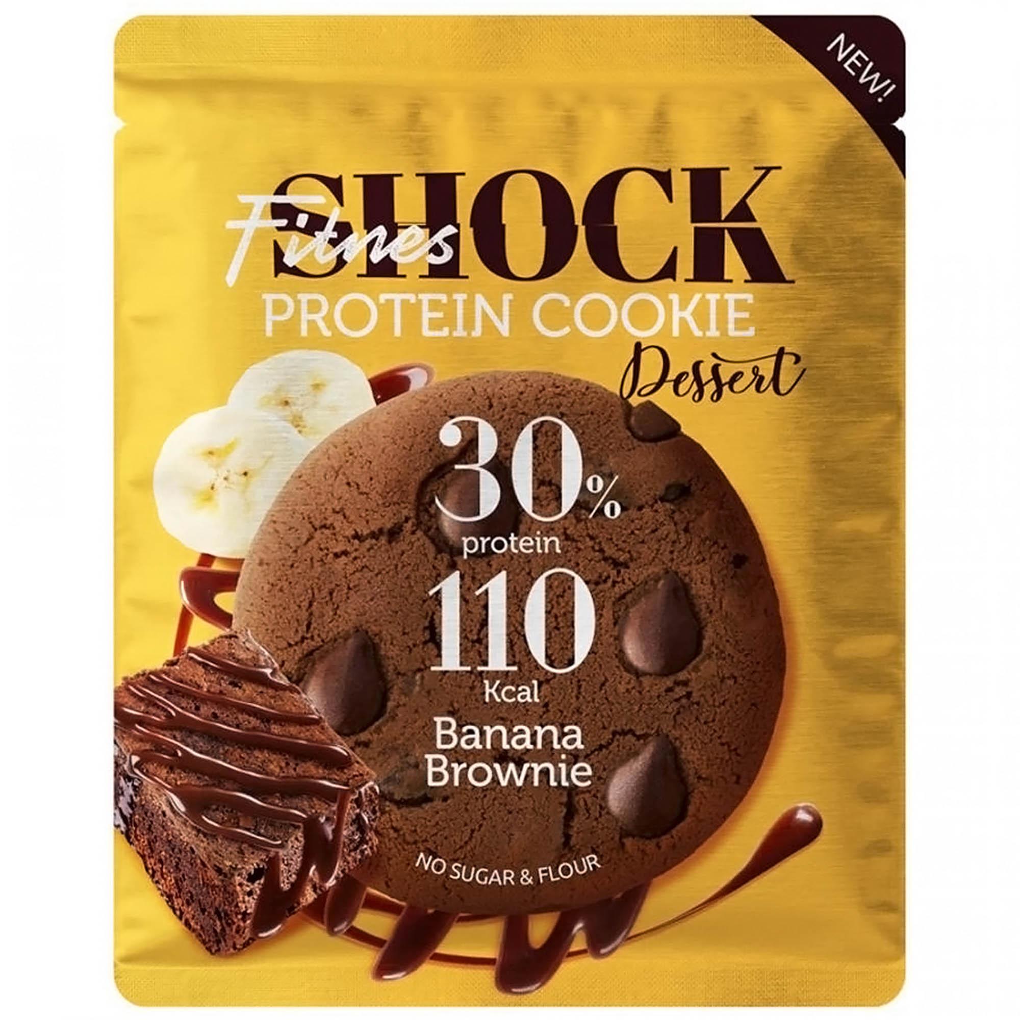 Фото - Печенье протеиновое FitnesShock Банановое брауни, 35 г без брэнда печенье детское банановое naturbalance semper