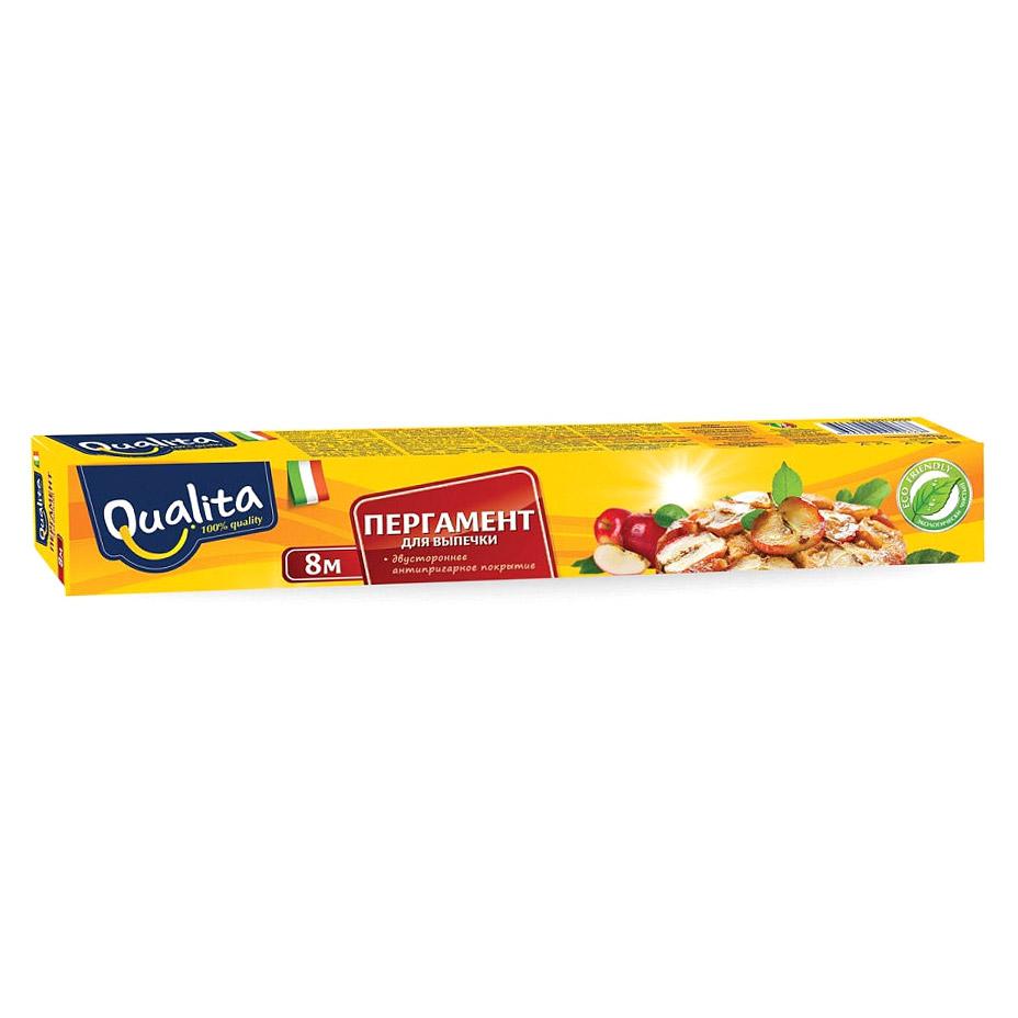 Пергамент для выпечки Qualita 8 м х 30 см пергамент для выпечки 8 м просто чисто