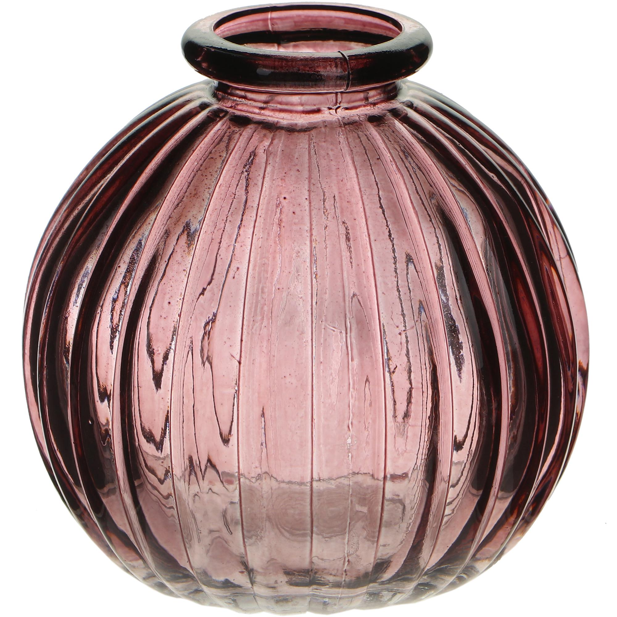 Ваза стеклянная Hakbijl Glass Mini Vase розовая 8,5х8 см